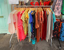 Clothes sale Stock Images
