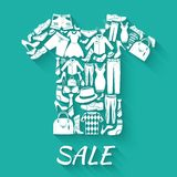 Clothes sale concept Royalty Free Stock Photography