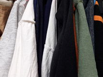 Clothes For Sale second hand. Old clothes sold for reuse Royalty Free Stock Photo