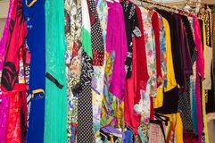 Clothes on sale Royalty Free Stock Images