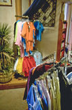 Clothes for sale in store Royalty Free Stock Photos
