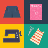 Clothes and sawing kit Royalty Free Stock Photos