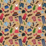Clothes seamless pattern Stock Photo