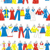 Clothes seamless pattern for tailor shop or atelier. Royalty Free Stock Photo