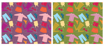 Clothes seamless pattern.Vector background Stock Photos