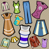 Clothes set Stock Photo