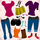 Clothes set Royalty Free Stock Image