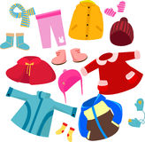 Clothes set Royalty Free Stock Photos