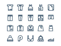 Clothes. Set of outline vector icons. Clothes. Set of outline vector icons on a white background Royalty Free Stock Photo