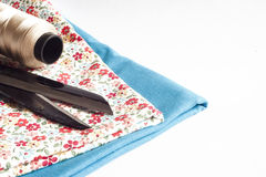 Clothes and sewing tools Stock Photography