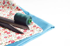 Clothes and sewing tools Royalty Free Stock Photo