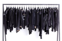Clothes on shelf Stock Photo