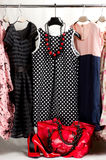 Clothes, shoes and accessories Royalty Free Stock Image