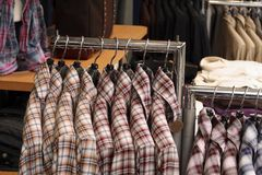 Clothes shop Stock Photos