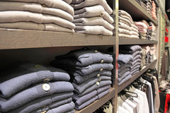Clothes in shop Stock Image