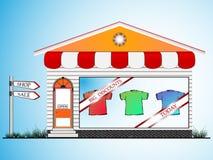 Clothes shop Stock Photos