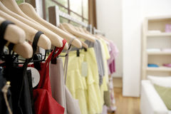 Clothes in Shop Stock Photography
