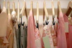 Clothes in Shop Royalty Free Stock Photography