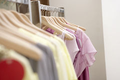 Clothes in Shop Stock Photo