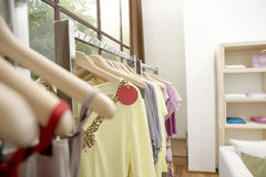 Clothes in Shop Royalty Free Stock Photos