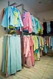 Clothes in the shop. Bright clothes in the shop Royalty Free Stock Images