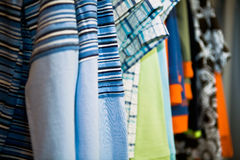 Clothes in the shop. Colorful clothes in the shop Stock Photography