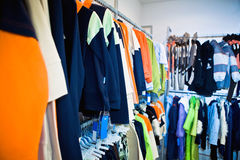 Clothes in the shop Stock Images