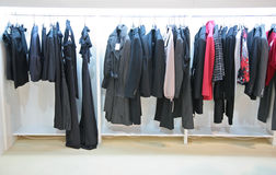 Clothes in shop Royalty Free Stock Images