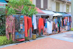 Clothes shop Arab Street Singapore Royalty Free Stock Image