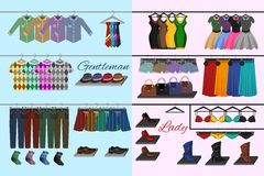 Clothes shop concept Stock Photography