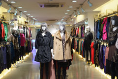 Clothes shop royalty free stock image