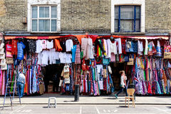 Clothes Shop on Portobello Road in Notting Hill stock photography