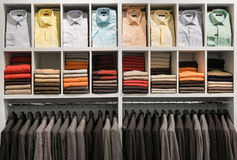 Clothes in the shop Royalty Free Stock Photography