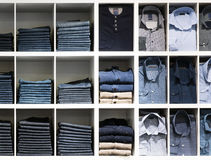 Clothes in the shop Stock Photo