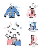 Clothes & shopping Royalty Free Stock Images