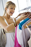 Clothes shopping Stock Photos