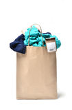 Clothes in a shopping bag Royalty Free Stock Photography