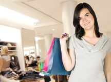 Clothes shopping girl Stock Photography