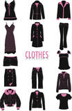 Clothes silhouettes Royalty Free Stock Image