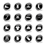 Clothes simply icons Stock Photos