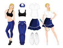 Clothes for sport or fitness Stock Photography