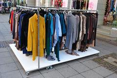Clothes on stand Stock Image
