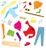 Clothes sticker set vector Stock Images