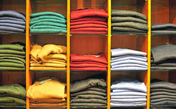 Clothes in the store Stock Image