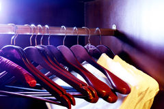 Clothes store - hangers Royalty Free Stock Photography