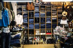 The Clothes Store. A photo of the clothes store Stock Image