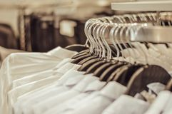 Clothes in the store royalty free stock photography