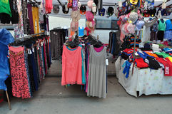 Clothes street market Stock Image