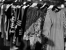 Clothes at street market Stock Photos