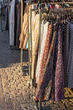 Clothes street sale Royalty Free Stock Image